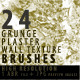 24 Grunge Plaster Wall Texture Brushes - GraphicRiver Item for Sale