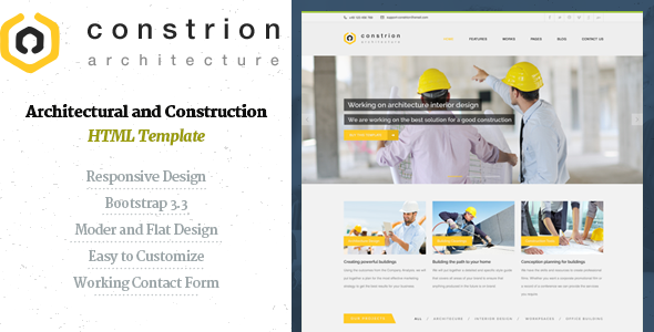 Constrion - Construction and Builder HTML Template - Business Corporate