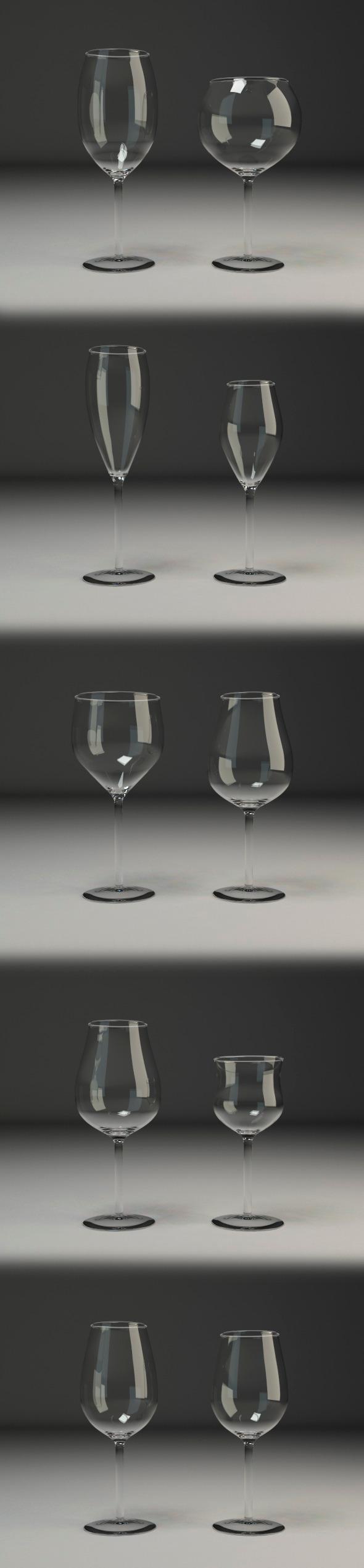 Wine glasses V1 - 3DOcean Item for Sale