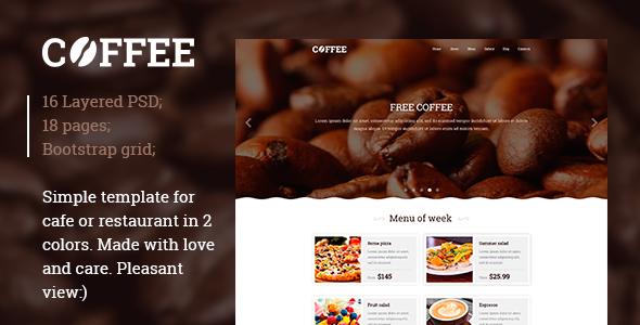 Restaurant / Cafe PSD template
