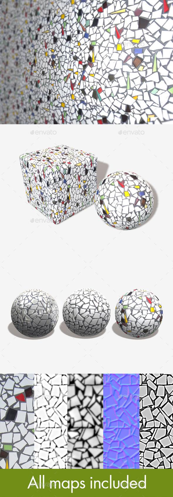Mosaic Tiles Seamless Texture - 3DOcean Item for Sale