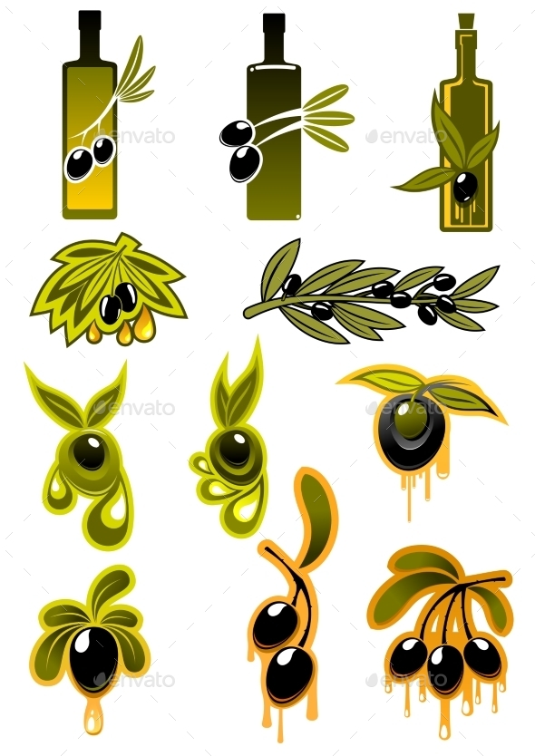 Olive Symbols  - Food Objects