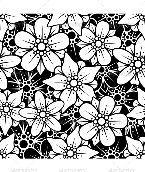 Floral seamless background - Backgrounds Decorative
