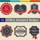 HTML5 Edge Animate Badges