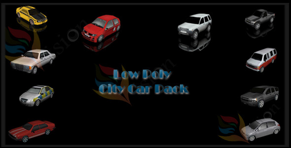 City Car Pack - 3DOcean Item for Sale