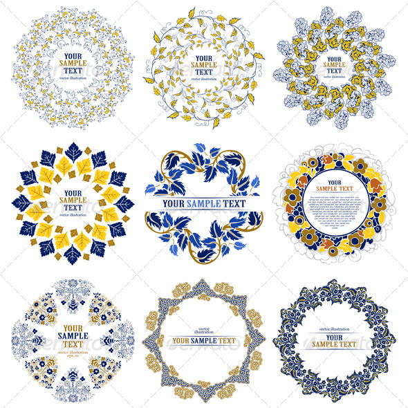 Set of Decorative Design Elements - Borders Decorative