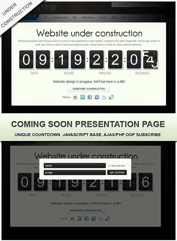 Coming soon landing page - CodeCanyon Item for Sale