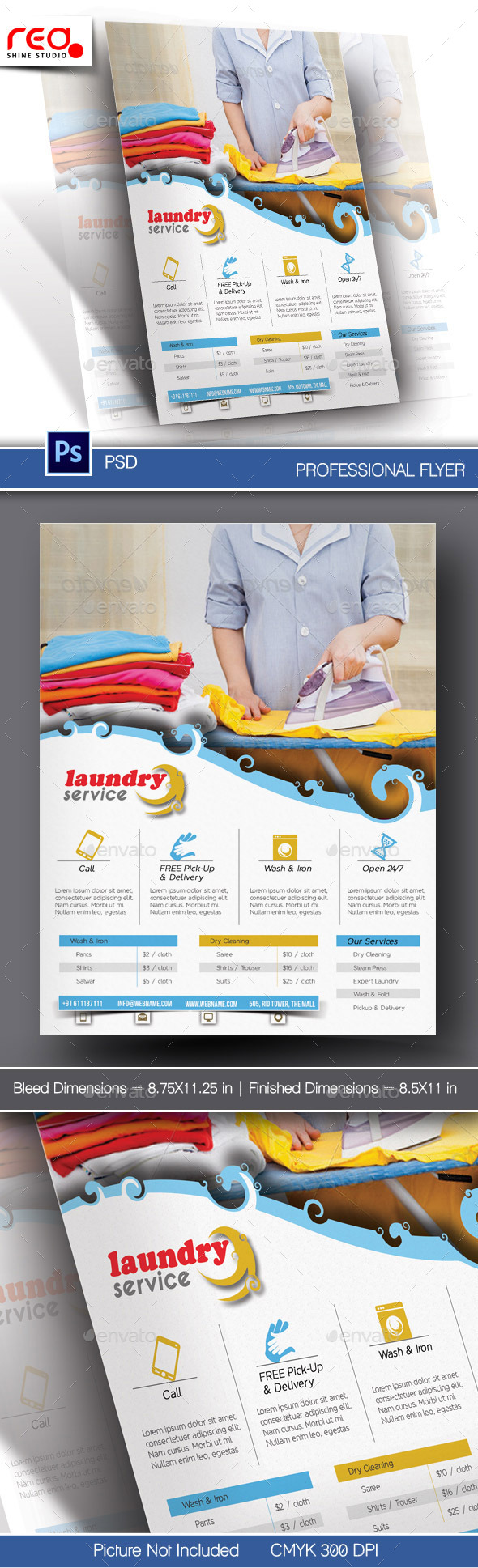 Laundry service flyer poster template by redshinestudio laundry service flyer poster template commerce flyers pronofoot35fo Image collections