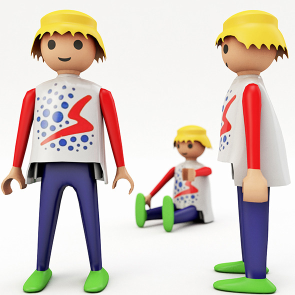 Playmobil man - 3DOcean Item for Sale