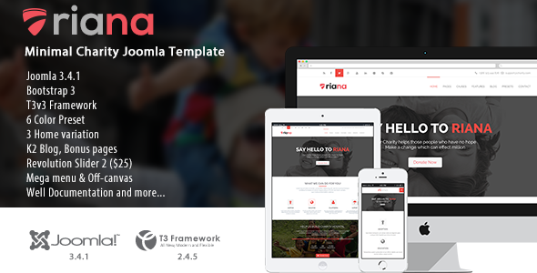 Riana – Joomla Charity Template