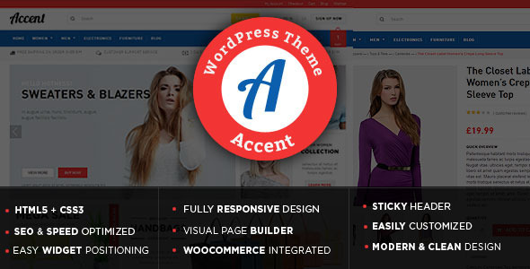 Accent - Gift Store WooCommerce WordPress Theme