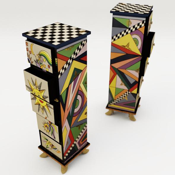 Drawer modern design - 3DOcean Item for Sale