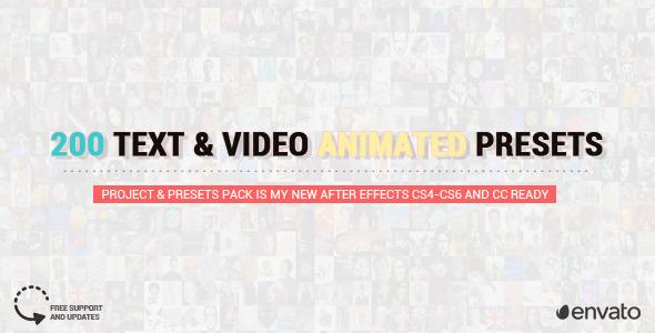 200 FFX Presets Text u0026 Video