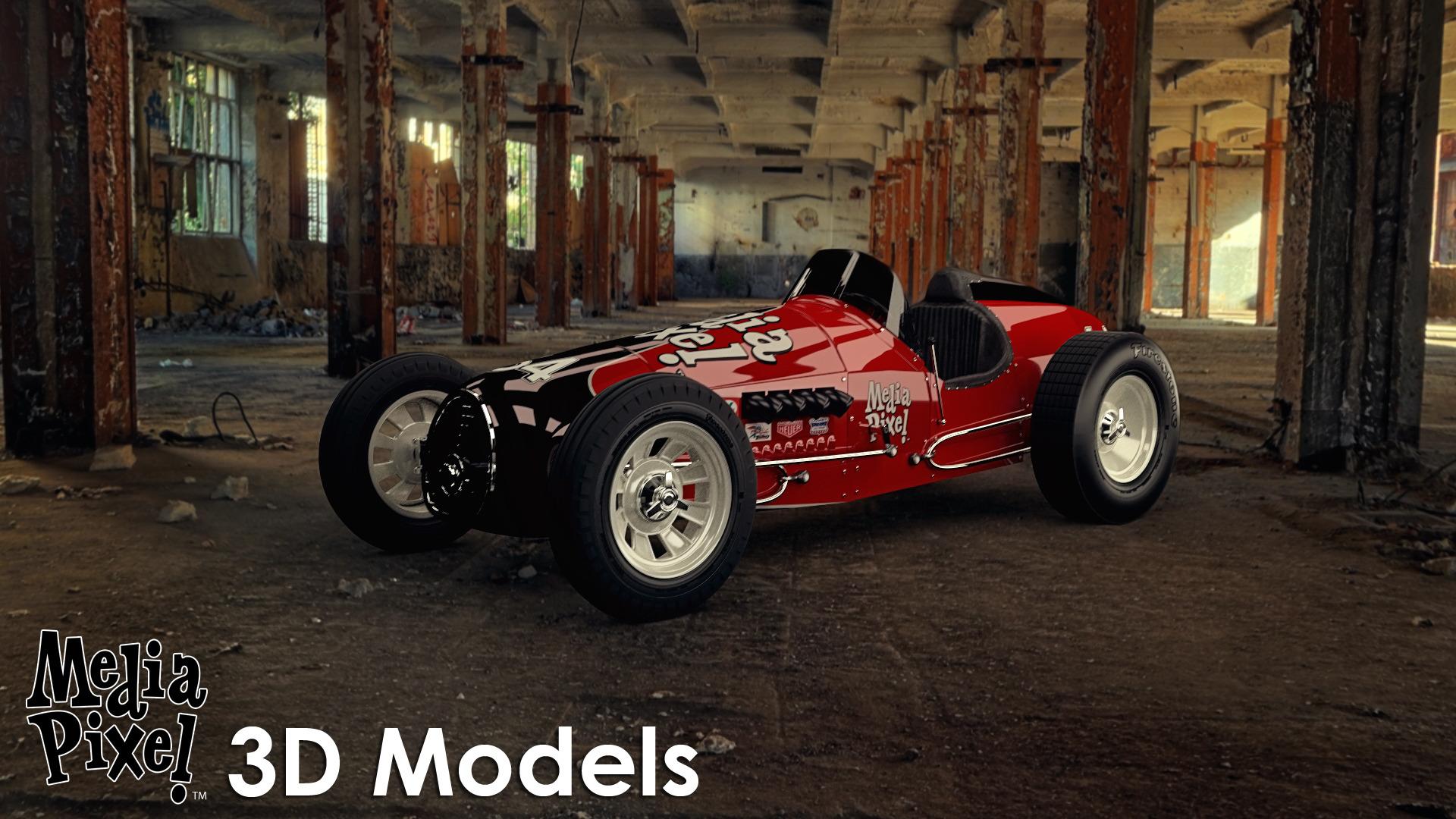 Vintage Sprint Car 3d Model By Media Pixel By Tufgi 3docean