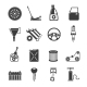 Auto Service Icons Black - GraphicRiver Item for Sale