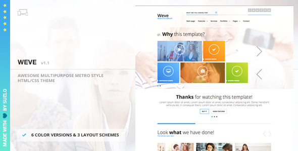 Weve – Responsive Metro Style HTML/CSS Template