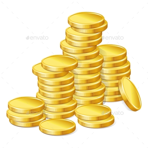 Gold Coins Background By Incomible