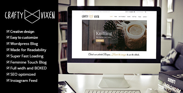 Vixen Blog - Responsive DIY WordPress Blog