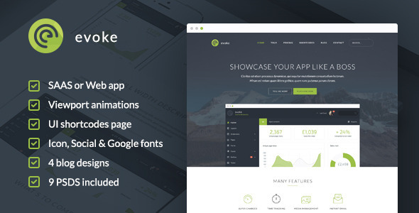 Evoke – HTML Template