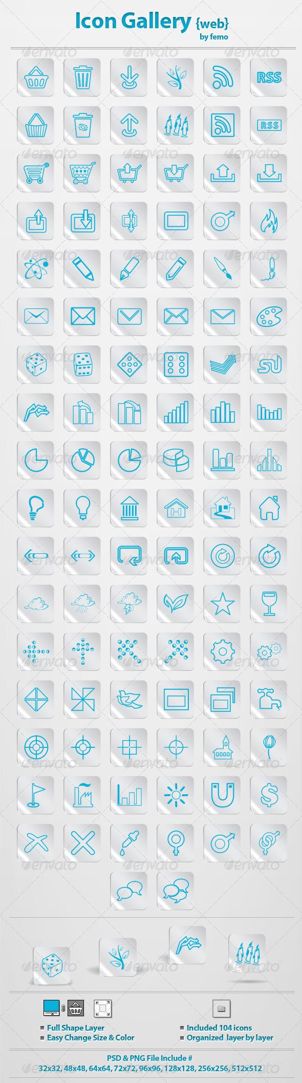 Icon Gallery {web} - Web Icons