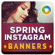 Spring Instagram Banners - 10 Designs  - GraphicRiver Item for Sale