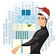 Man in a Santa hat with presents - GraphicRiver Item for Sale