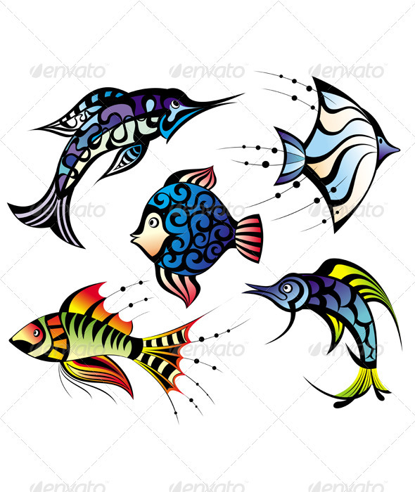 Vector Fishes - Miscellaneous Characters