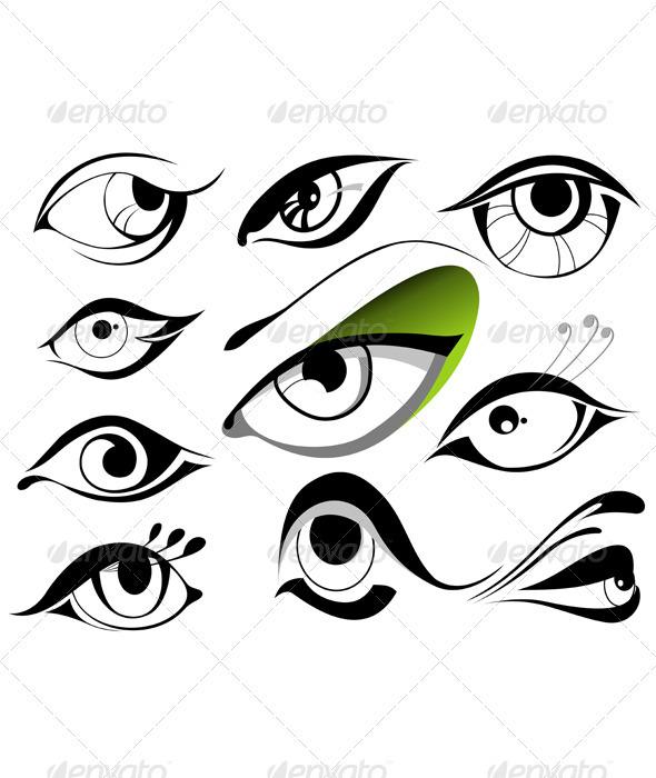 Eyes Vector - People Characters