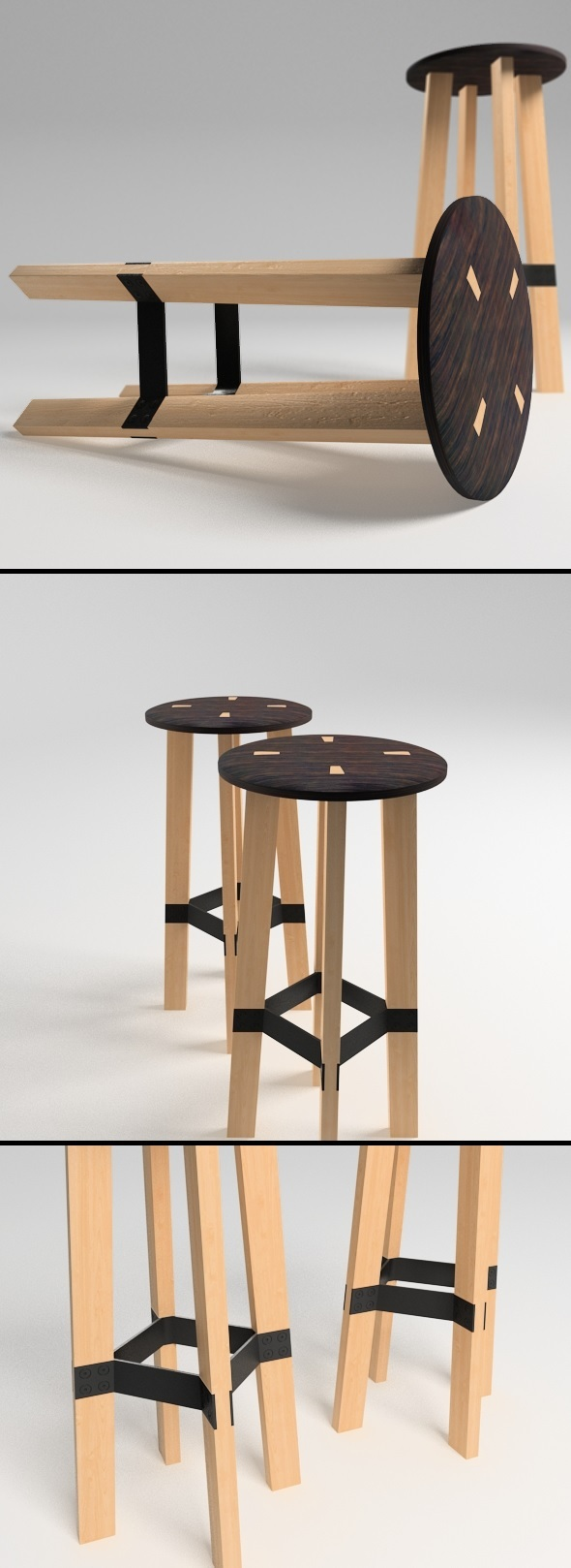 Bar Stool - Contra - 3DOcean Item for Sale