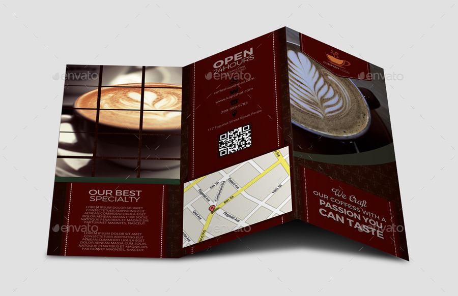 coffee brochure template by leetspeak