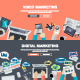 Set of Flat Design Concepts for Marketing  - GraphicRiver Item for Sale