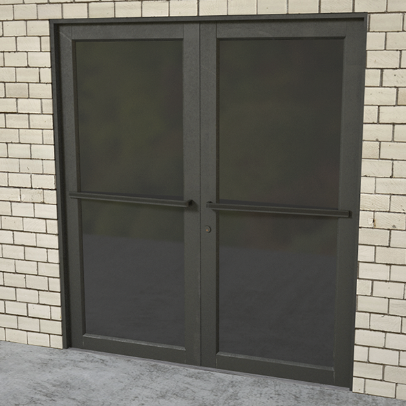 Commercial door entrance - 3DOcean Item for Sale