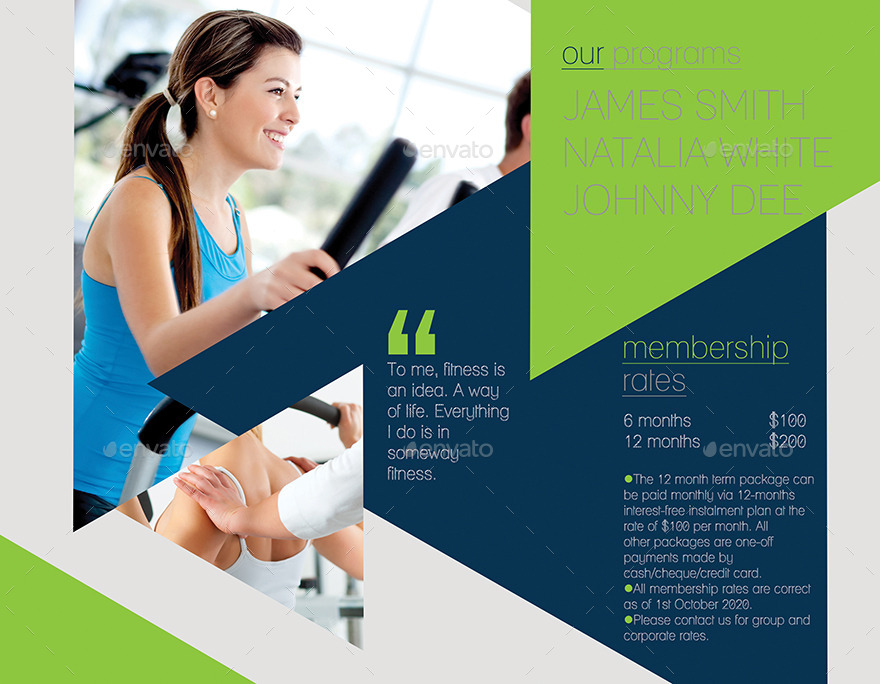 Fitness 3-Fold Brochure By Inddesigner | Graphicriver
