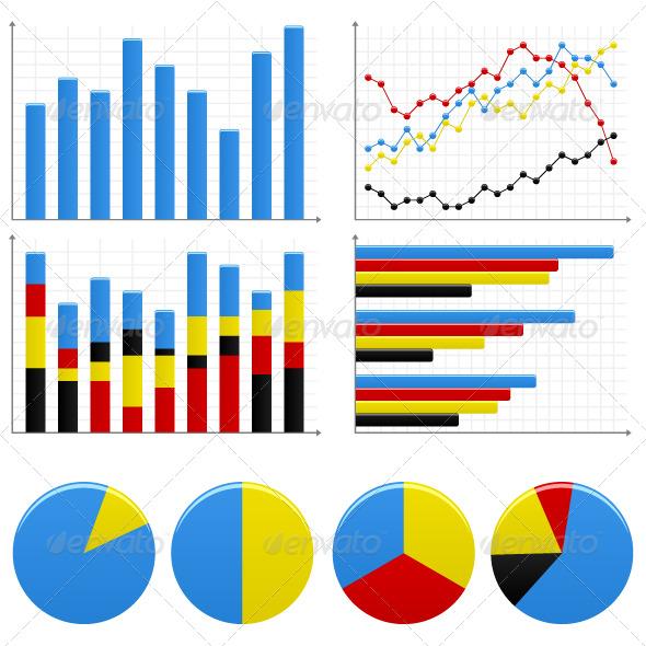 Bar Pie Graph Chart - Web Elements