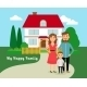 Family with House  - GraphicRiver Item for Sale