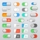 Toggle Switch Set - GraphicRiver Item for Sale