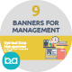 Flat Concept Banners for Management - GraphicRiver Item for Sale