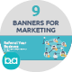 Flat Concept Banners for Marketing - GraphicRiver Item for Sale