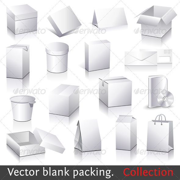 Vector blank packing collection - Concepts Business