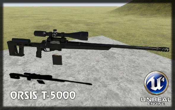 Sniper rifle - 3DOcean Item for Sale