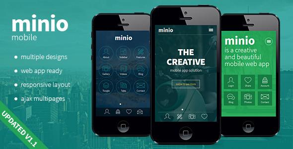 minio – HTML Mobile Template