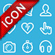 Flat linear common icons - GraphicRiver Item for Sale