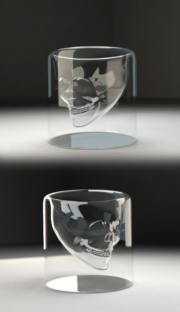 Skull glass v1 - 3DOcean Item for Sale