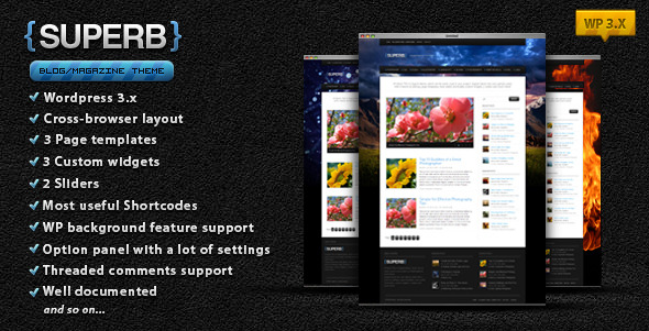Free Download Suberb - blog/magazine WordPress theme Nulled Latest Version