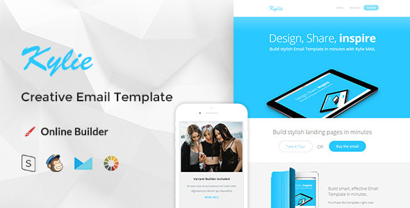 Kylie – Modern Email Template + Online Editor