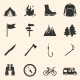 Set of Hiking and Camping Icons - GraphicRiver Item for Sale