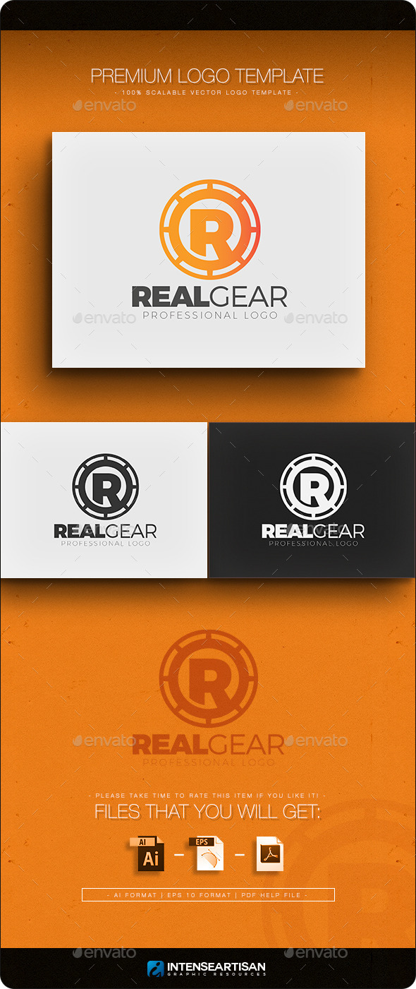 Real Gear Logo Template - Letters Logo Templates