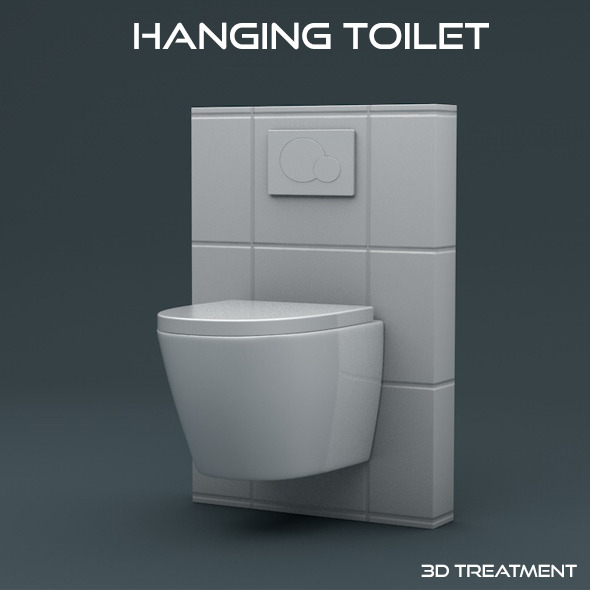 Hanging Toilet - 3DOcean Item for Sale