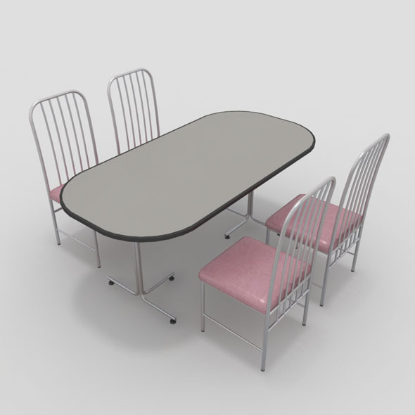 Table with Chairs-5 - 3DOcean Item for Sale