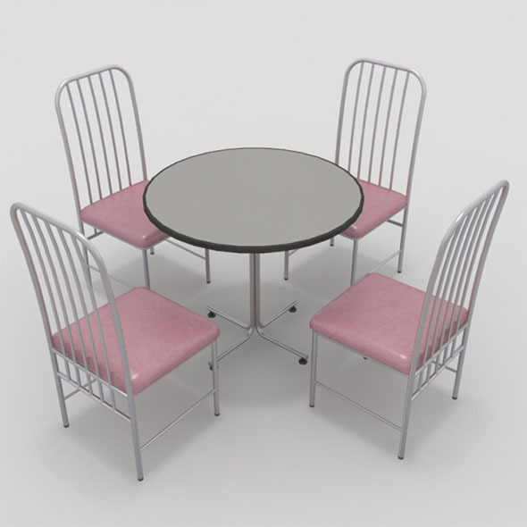 Table with Chairs-6 - 3DOcean Item for Sale